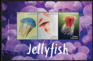 ANTIGUA 2017  JELLYFISH   SET OF TWO SHEETS MINT NH