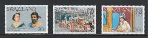 Swaziland 1977 25th Anniversary of Reign of QE II Scott # 278 - 280 MNH