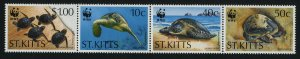 St Kitts 384a MNH Green Turtle, WWF
