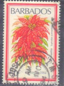 BARBADOS  SC# 636 USED  50c 1984  FLOWER SEE SCAN
