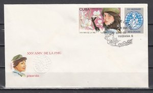 Cuba, Scott cat. 2806. Women`s Federation issue First day cover. ^