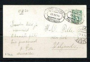 Estonia/Estland Postal Card 1924 Tallin Single usage 7978