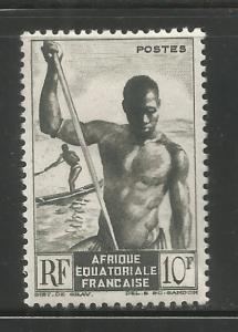 FRENCH EQUATORIAL AFRICA  181  MINT HINGED,  NIGER BOATMAN