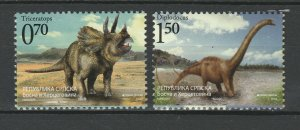 Bosnia and Herzegovina Serbian 2009 Dinosaurs 2 MNH Stamps