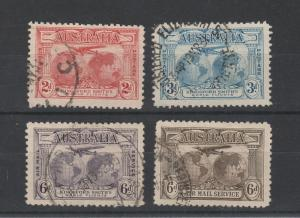 AUSTRALIA 1931 KINGSFORD SMITH AIRMAIL SET
