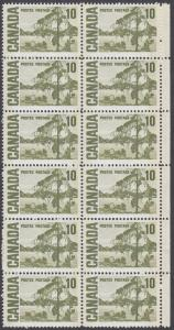 Canada - #462piv -  10c Centennial Issue  - Block of 12 - Unitrade CV.$72 - MNH