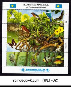 PALAU - 1989 STILT MANGROVE / WORLD STAMP EXPO '89 MIN/SHT MNH