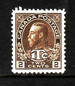 Canada-Sc#MR4-Unused 2c + 1c brown war tax -KGV-og-NH-1916-Cdn743-there is