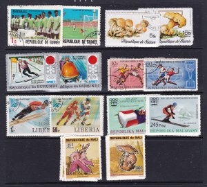 Africa x 5 used & 2 mint full sets, nice collection builder