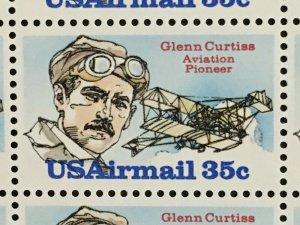 1980 sheet, Airmail, Glenn Curtiss, Sc# C100
