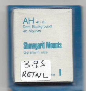 SHOWGARD MOUNT AH,  41 MM X 31 MM, NEW & UNOPENED, RETAIL $3.95