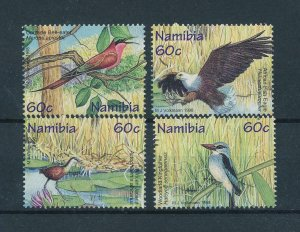[103001] Namibia 1998 Birds vögel oiseaux From sheet MNH