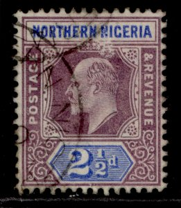 NORTHERN NIGERIA EDVII SG13, 2d dull purple & ultrmarine, FINE USED. Cat £13.