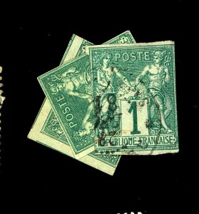 FRENCH COLONIES #24 30-1 USED AVE Cat $62