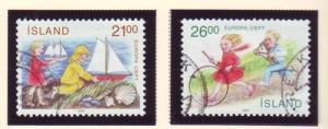 Iceland Sc 675-6 1989 Europa stamp set used