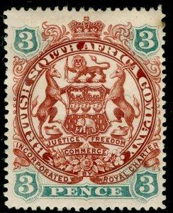 RHODESIA SG69, 3d brown-red & slate-blue, M MINT. Cat £11.