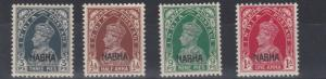 INDIA  NABHA 1941 - 45  S G 95 - 98  SET OF 4  MH CAT £150