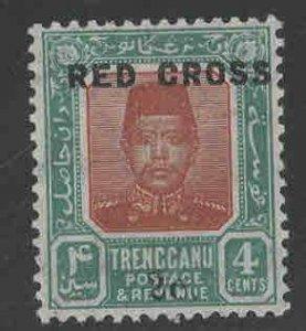 Malaya Trengganu Scott B4 MH*1918 Red Cross stamp