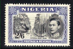 Nigeria 1942 KGV1 2/-6d Blue & Black Perfs 14 MM  SG  58b ( 1447 )