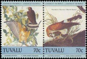 Tuvalu  #279-286, Complete Set(4), Pairs, 1985, Birds, Never Hinged