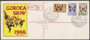 PAPUA NEW GUINEA 1966 cover EASTERN HIGHLANDS SHOW GOROKA cancel...........55552