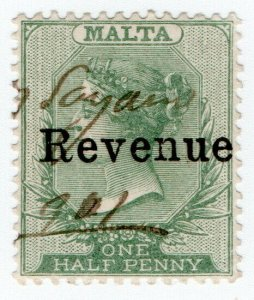 (I.B) Malta Revenue : Duty Stamp ½d