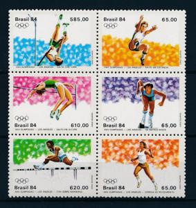 [55642] Brazil Brasilien 1984 Olympic games Los Angeles Athletics MNH