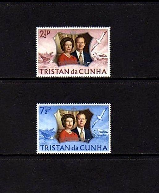 TRISTAN DA CUNHA - 1972 - QE II - SILVER WEDDING ISSUE - MINT - MNH - SET!