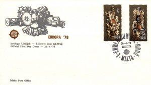 Malta 547-548 Europa U/A FDC