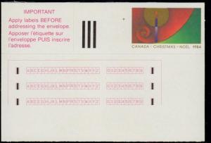 Canada #2-ST MNH Christmas Stick N Tic Labels (2-ST) CV$6