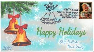 19-297, 2019, Christmas, Pictorial Postmark, Event Cover, Ship Bottom NJ, Bells