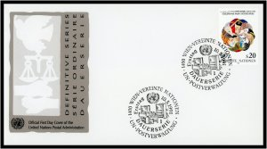 UN-Vienna FDC #116 People of the World