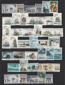 Australia Antarctic Terr. a page of used