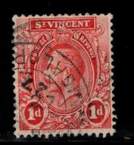 St Vincent Scott 119 Used KGV wmk 4,1913