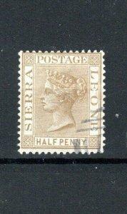 Sierra Leone 1883 1/2d brown FU CDS