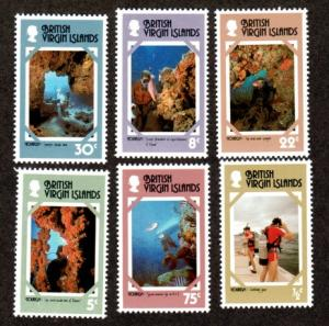 British Virgin Islands 327-332 Mint NH MNH Marine Life!