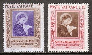 Vatican City - Scott #156-157 - MNH - SCV $7.50