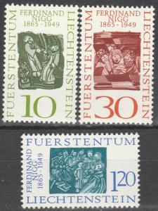Liechtenstein #401-3  MNH  (S9362)