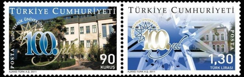Turkey 2011 MNH Stamps Scott 3269-3270 Technical University