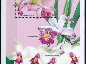 [79821] Zambia 1999 Flora Flowers Blumen Orchids Souvenir Sheet MNH