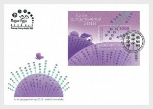 2018    HUNGARY  -  TRUE LAVENDER MEDICAL PLANT OF YEAR -  FIRST DAY COVER