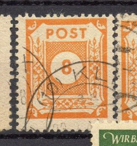 Germany Ost Sachsen 1945 Early Issue Fine Used 8pf. NW-05674