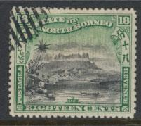 North Borneo  SG 110 Used  perf 14 corrected inscription see scan & details