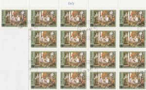 Vietnam Family Scene Stamps Crafts Decoupage or Collect Ref 28311