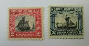 1925 United States SC #620-21 Norse American Centennial  MNH stamp set