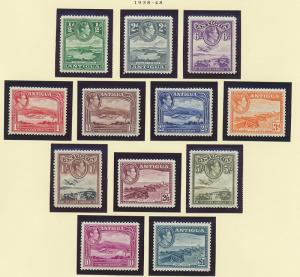 Antigua Scott #84 To 95 (84-95), Mint Lightly Hinged, Scenery Issue From 1938...