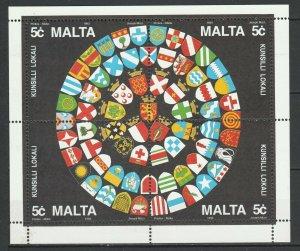 Malta 1993 Flags / Local coat of arms MNH Sheet