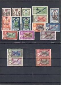 French India, 157//176, Overprinted Singles,**MNH/LH**