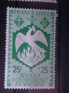 FRENCH EQUATORIAL AFRICA, 1941, MNH 25c, Scott 144