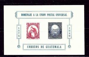 Guatemala 338 MLH 1951 UPU souvenir sheet